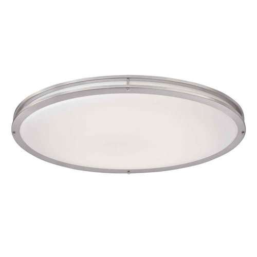 4000K, 30W Round LED Flush Mount Ceiling Fixture, Dimmable