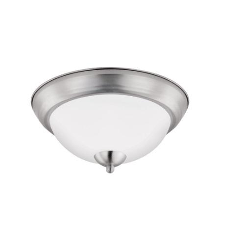 11-In 11W LED Flush Mount Ceiling Light, Dimmable, 900 lm, 3000K, Brushed Nickel Bezel