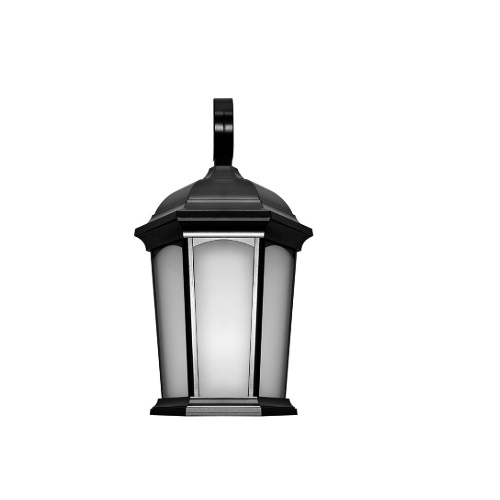 12.5W LED Outdoor Wall Lantern, 1200 lm, 3000K, Oil Rubbed Bronze