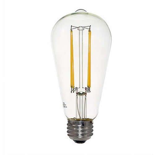Euri Lighting 4 9w Led St19 Filament Bulb Dimmable E26 450 Lm 120v 2700k Euri Lighting Vst19 2000 Homelectrical Com