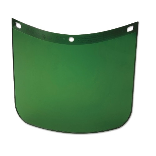"8"" x 11-1/4"" High Performance Facesheild Window, Dark Green"