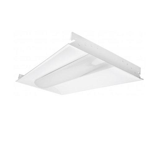 1' x 4' 3500K 110-277V 20W White LED Troffer Light