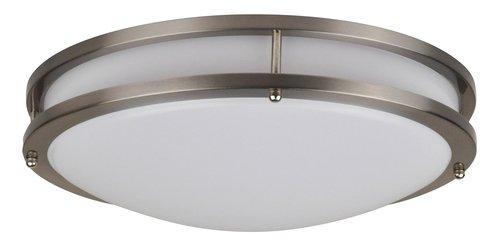 22W LED Flush Mount, Modern Design, Nickel Finish, 4000K