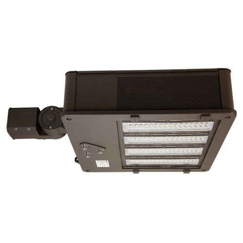 110 Watt White LED Shoebox Light with 6'' Extruded Arm Mount, 5000K
