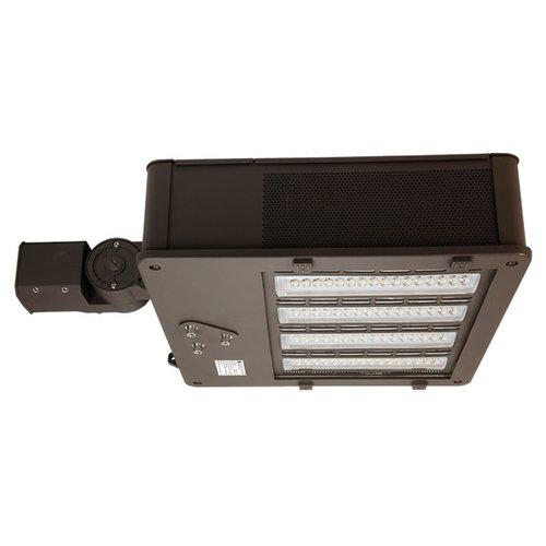 240 Watt Bronze LED Shoebox Light with 6'' Extruded Arm Mount, 5000K
