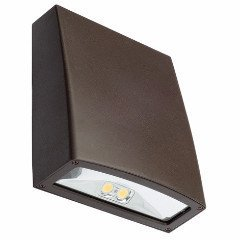 15 Watt Bronze LED Slim Wall Pack, 5000K