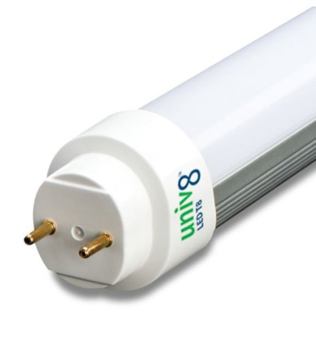 5000K 100-277V 8W 2ft Ballast Compatible T8 LED Tube, Case of 20