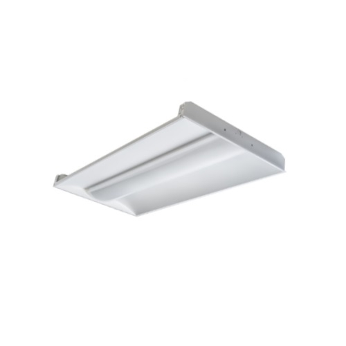 GlobaLux 30W 2'x2' LED Recessed Lighting, Center Basket Troffer, Dimmable,  5000K
