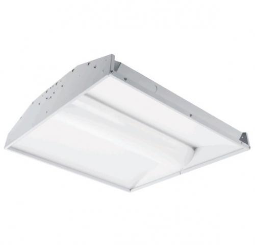 2x4 Led Light Fixtures Dimmable: GlobaLux 40W 2X4 LED Troffer W/Center Basket, Dimmable