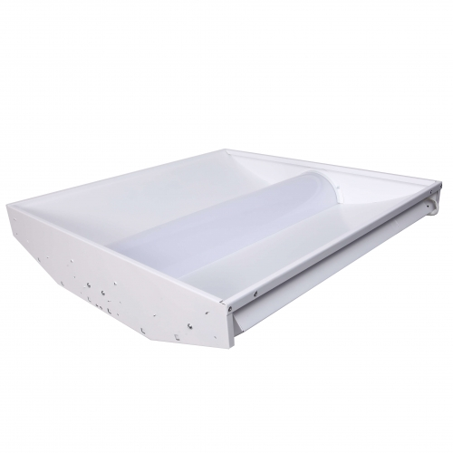 2x4 Led Light Fixtures Dimmable: GlobaLux 52W 2X4 LED Troffer W/Center Basket, Dimmable
