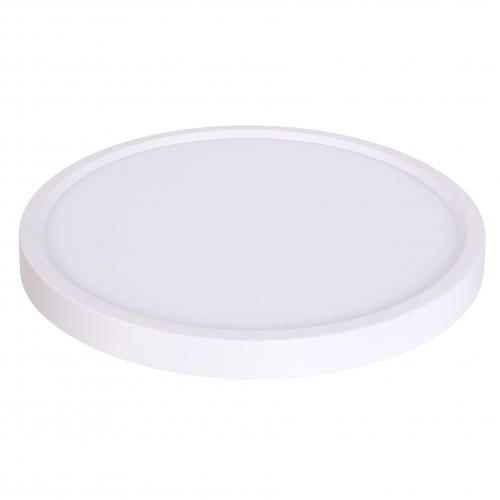 """10W 5"""" Round Edge Lit LED Disk, Dimmable, 3000K, White"""