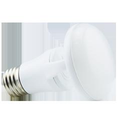 6.5W Titanium LED BR Bulb, 2400K, CLOUD Design, White