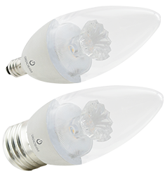 5.5W B11 Dimmable LED Bulb, 2700K, 230 Deg Beam Angle