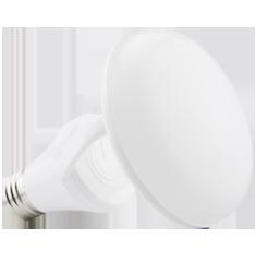 8W Titanium LED BR Bulb, 2400K, CLOUD Design, White