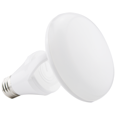 8W Titanium LED BR Bulb, 3000K, CLOUD Design, White