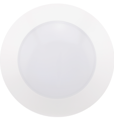 10W Recessed Can Flushmount, CLICK Design, 120V, Dimmable, 3000K, White