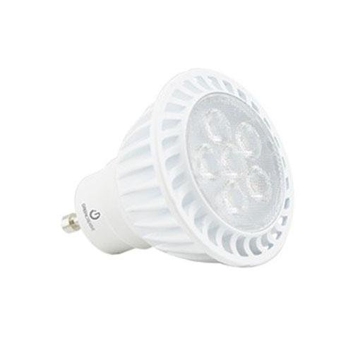 3000K, 6W MR16 LED Bulb with GU10 Base, Dimmable, 500 Lumens, 120V