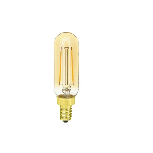 3W LED T6 Edison Bulbs, Dimmable, E12, 2000K, Amber