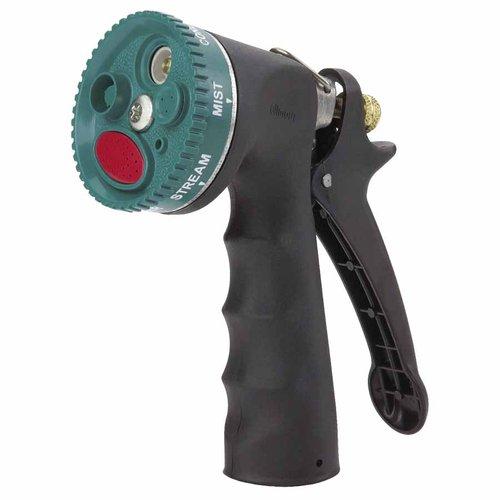 Black Pistol Grip Full Comfort Grip Spray-Selection Nozzle, Die-Cast Zinc