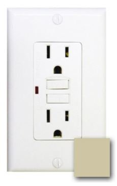 15 Amp GFCI with Auto-Monitoring Function, Ivory