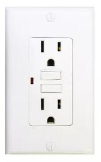 15 Amp GFCI with Auto-Monitoring Function, White