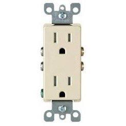 15 Amp Decora Duplex Receptacle Outlet, Almond