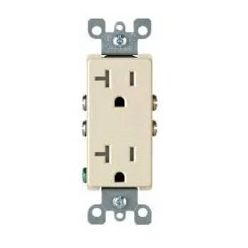 20 Amp Decora Duplex Receptacle Outlet, Almond