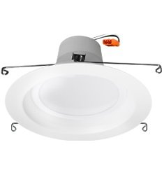 "10 Watt 5"" or 6"" Retrofit Downlight 120V Dimmable, 3000K, White"