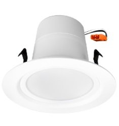 """12W 4"""" LED Residential Retrofit Downlight, 3000K, Dimmable, White"""
