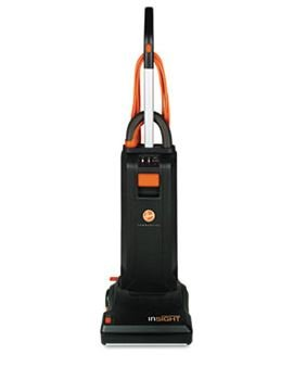 """Insight Bagged Upright Vacuum Cleaner, 13"""" Cleaning Path, 10 AMP, 20lb, Black"""