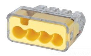 12 AWG Push-In Wire Connector, 3 Port, 250/Jar