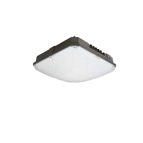 40W LED Canopy Light Fixture, 150W Retrofit, Dimmable, 5090 lm, 4000K, Bronze