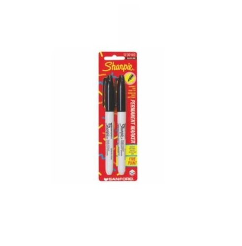 Black Fine Point Permanent Markers