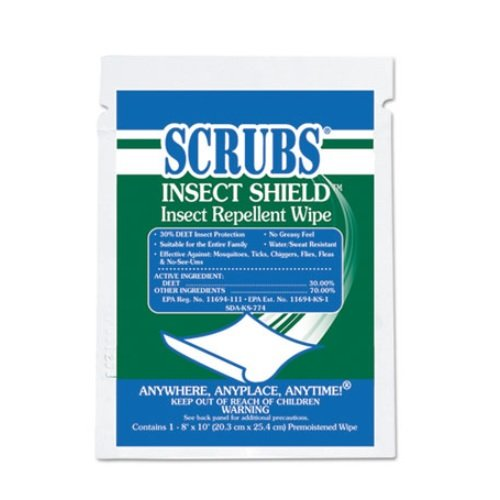 Insect Shield Repellent Wipes 100Ct, 8x10