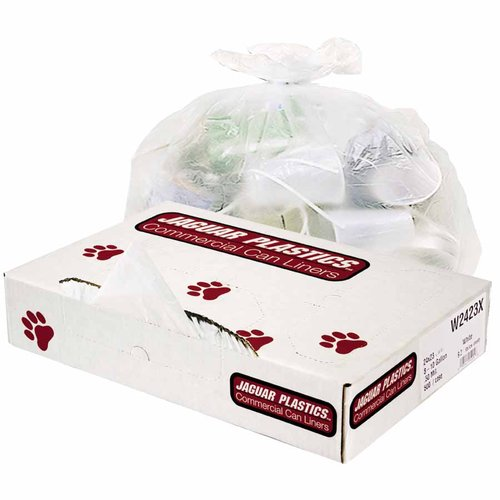 White 10 Gallon Low-density 24 x 30 Inch .5 Gauge Commercial Can Liners