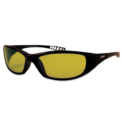 Black Frame Amber Lens V40 Hellraiser Safety Eyewear