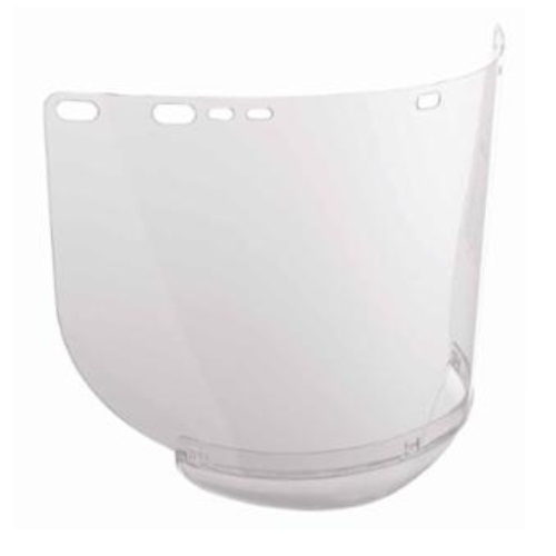 15-1/2 x 8-in F20 Polycarbonate Face Shield, Unbound