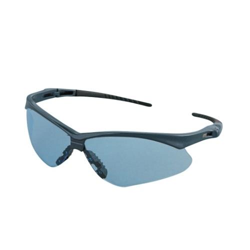Safety Glasses w/ Light Blue Anti-Scratch Lens & Blue Frame