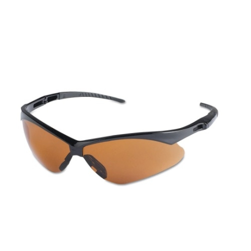 Safety Glasses w/ Copper Anti-Scratch Lens & Black Frame