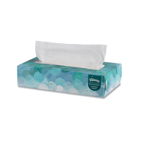 KLEENEX White 2-Ply Facial Tissue in Flat Box 48 ct