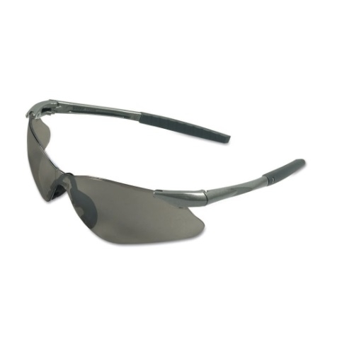 Safety Glasses w/ Smokey Lens & Gunmetal Frame, Anti-Scratch Nylon