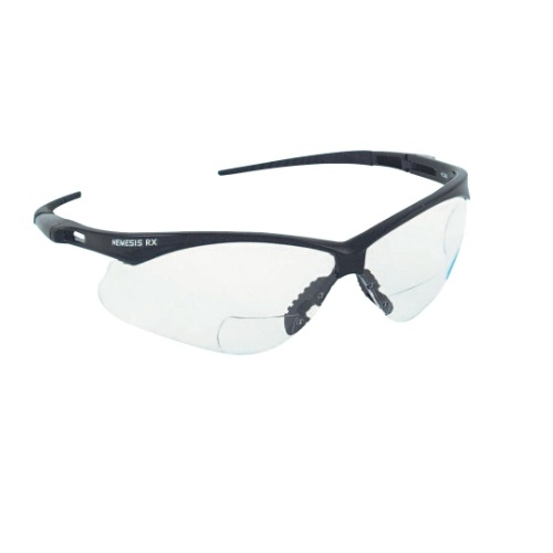 Safety Glasses, 1.5 Diopter, Anti-Scratch Lens, Black