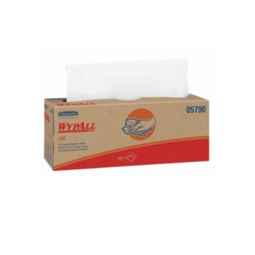 WypAll L40 Dry Wipes, White