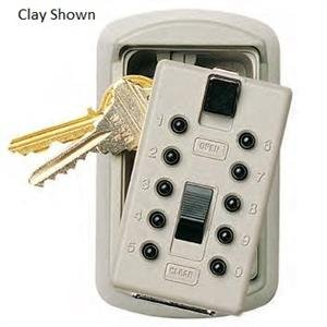 KeySafe Original Slimline Push, Assorted Key Holder, Clay