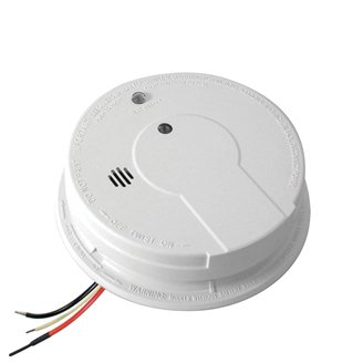 120V AC/DC Photoelectric Smoke Alarm with Hush Feature