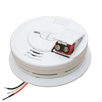 120V AC Hardwired Front-Load Smoke Alarm with Alkaline Battery Backup