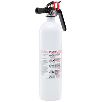 5-B:C, 2# - Fire Extinguisher with nylon strap bracket - silver, Disposable