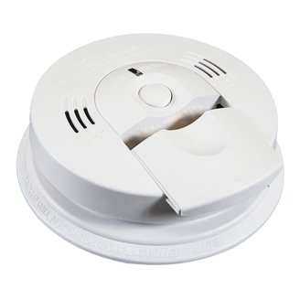 Battery Operated Combination Ionization CO/Smoke Alarm with Front Load Battery and Voice Warning, Boxed