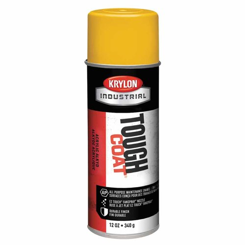 12 Ounce Interior/Exterior Tough Acrylic Yellow Aerosol Spray Paint
