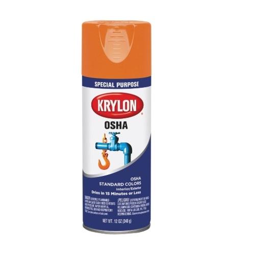 12 oz Industrial OSHA Paint, Safety Orange